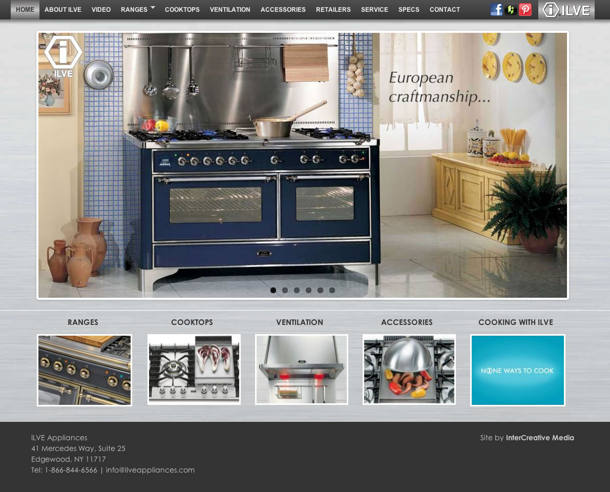 ILVE Appliances   Ground Breaking Website For High End Oven Ranges